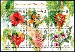 PITCAIRN 2018 - Les Couleurs Du Paradis, Fleurs De Pitcairn - Feuillet 6 Val Neufs // Mnh - Timbres