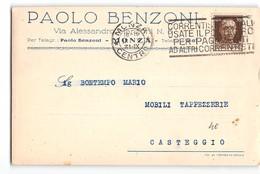 11826 MONZA BENZONI X CASTEGGIO - TARGHETTA - 1900-44 Vittorio Emanuele III