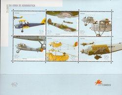 Plane Flugzeuge 1999 Portugal Block 152 ** 8€ Spitfire Junker Brequet Ms Bloc Ss Aircraft Sheet Technic Bf Military - Blocks & Sheetlets