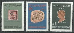 Tunisie YT N°627-628-629 Histoire Nationale Neuf ** - Tunisie (1956-...)