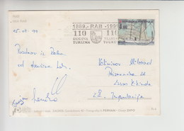 "Croatia FLAM RAB ""110 GODINA TURIZMA"" 1999 Nice Cancelation (fl152) - Lettres & Documents"