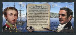 PITCAIRN 2018 - Bateaux, Personnages Célèbres Et Constitution De Pitcairn - 2 Val Neufs // Mnh - Timbres