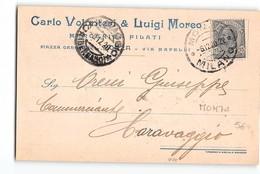 11837 MONZA VOLONTERI MOREO FILATI X CRAVAGGIO - 1900-44 Vittorio Emanuele III