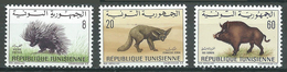 Tunisie YT N°656-659-662 Faune Neuf ** - Tunisie (1956-...)