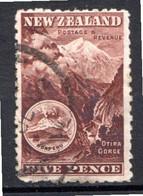 OCEANIE - Nelle ZELANDE - (Colonie Britannique) - 1898 - N° 76 - 5 P. Brun-lilas - (Gorges D'Otira Et Mont Ruapehu) - Honduras