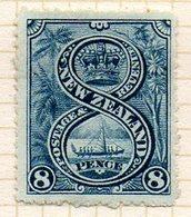 OCEANIE - Nelle ZELANDE - (Colonie Britannique) - 1898 - N° 78 - 8 P. Bleu - (Canot Indigène De Guerre) - Honduras