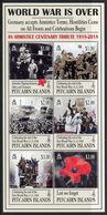 PITCAIRN 2018 - Cent Fin 1ere Guerre Mondiale, Armistice - Feuillet 6 Val Neufs // Mnh - Timbres