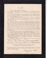 ANGLEUR Marie DENORMANDIE Veuve Léonor HORRIC De BEAUCAIRE Gendarmerie D'élite Garde Royale 95 Ans 1894 - Obituary Notices
