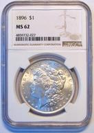 1896 Morgan Silver Dollar. NGC Certified MS62. M13. - 1878-1921: Morgan