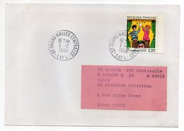 """1988--tp De La Bande-""""La Communication""""-FRED--  N° 2506 Seul Sur Lettre--Beau Cachet TOURS HALLES CENTRALES-37 - Marcophilie (Lettres)"""