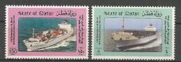 Qatar - 1986 - Série 10e Anniv. De La Compagnie Arabe De Transport Maritime  - N/O - Qatar