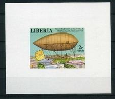 Liberia Luxusblock MiNr. 1054 B Postfrisch MNH Zeppelin (Zep249 - Liberia