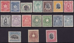 Liberia 1892-96 Sc 33-49 Mint Hinged - Liberia
