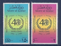 Qatar - 1988 - Série 40e Anniv. De Organisation Mondiale De La Santé  ( OMS ) - N/O - Qatar