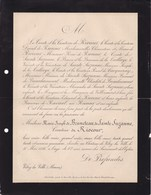 Château De VITRY-la-VILLE Marne Marie-Joseph De BRUNETEAU De SAINTE-SUZANNE Comtesse De RIOCOUR 62 Ans 1886 - Obituary Notices
