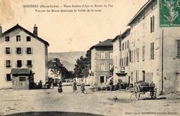 Rosières  43    La  Place Jeanne-d'Arc Et Route Du Puy _Place Animée -et  Poids Public_ - Autres Communes