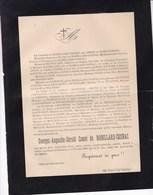 QUIES OLLIOULES Georges De ROBILLARD-COSNAC 46 Ans 1899 Famille ARSON De SAINT-JOSEPH - Esquela