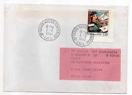 """1988--tp De La Bande-""""La Communication""""--BILAL - N° 2514  Seul Sur Lettre--Beau Cachet TOURS HALLES CENTRALES-37 - Marcophilie (Lettres)"""