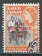 Ghana 1957. Scott #9 (U) Cocoa Farmer * - Ghana (1957-...)