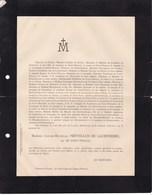 Château De PERRIERES Mâcon 68 Ans 1892 Louise-Mathilde PREVERAUD De LAUBEPIERRE Née De SAINT-PHALLE De NOURY - Obituary Notices