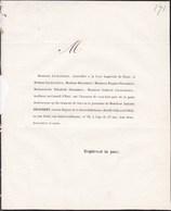 PARIS Ancien Député Seine-Inférieure DESJOBERT Amédée 57 Ans 1853 Famille LECHANTEUR Lettre Mortuaire - Obituary Notices