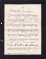 Château D'Etiau Par Longué Maine-et-Loire Henri Louis Comte De MAILLE De La TOUR-LANDRY 67 Ans 1905 DAMAS - Obituary Notices