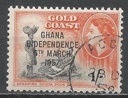 Ghana 1957. Scott #10 (U) Breaking Cocoa Pods * - Ghana (1957-...)