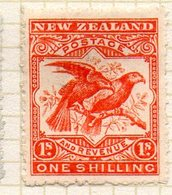 OCEANIE - Nelle ZELANDE - (Colonie Britannique) - 1898 - N° 80 - 1 S. Rouge - (Cacatoès) - Honduras