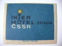 Czechoslovakia Matchbox Label 1964 - Interhotel Ostrava - Boites D'allumettes - Etiquettes