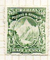 OCEANIE - Nelle ZELANDE - (Colonie Britannique) - 1900-09 - N° 96 - 1/2 P. Vert Foncé - (Mont Cook) - Honduras