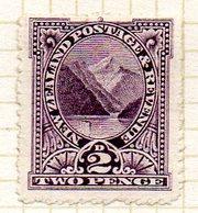 OCEANIE - Nelle ZELANDE - (Colonie Britannique) - 1900-09 - N° 100 - 2 P. Violet - (Pic Pembroke) - Honduras