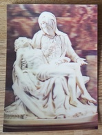 Michelangelo - La Pietà - Basilica Di San Pietro (Vaticano) - Stereo Postcard - 3D - Miguel Angel Michel-Ange Pity - Cartes Stéréoscopiques