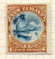 OCEANIE - Nelle ZELANDE - (Colonie Britannique) - 1900-09 - N° 104 - 4 P. Brun Et Bleu - (Lac Taupo Et Mont Ruapehu) - Honduras
