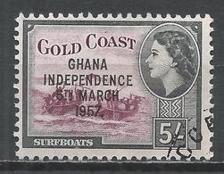 Ghana 1957. Scott #12 (U) Surfboats * - Ghana (1957-...)