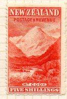 OCEANIE - Nelle ZELANDE - (Colonie Britannique) - 1900-09 - N° 111 - 5 S. Rouge Orange - (Mont Cook) - Honduras