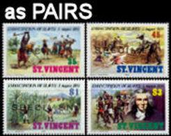 ST.VINCENT 1984 Slavery Plantage Sugar Palm Trees Agriculture SPECIMEN PAIRS:4 - Agriculture