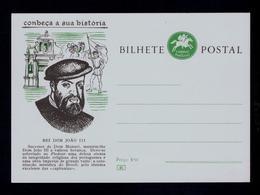 D.JOÃO III Kings Brazil Colonization Organization Religion Postal Stationery Portugal #9879 - Familles Royales