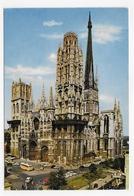ROUEN - LA CATHEDRALE AVEC VIEILLES VOITURES - CITROEN DS 2CV -  CPSM GF NON VOYAGEE - Rouen