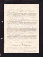MANS Château De SAINT-MARS-la-BRUYERE SARTHE Maurice Le BRETON Vicomte De VANNOISE 56 Ans 1913 De FOUCAUD - Obituary Notices