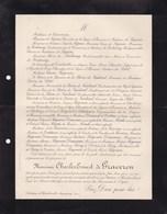 Château D'HEUDREVILLE-sur-Eure ACQUIGNY 86 Ans 1904 Charles De GRAVERON Famille De SEGUIN De FONTENAY - Obituary Notices