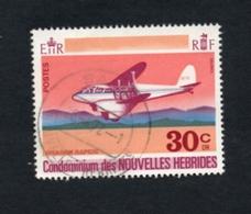 1972 Avion Nouvelles Hebrides 20c  Yvert Tellier No. 324 Timbre Usagee, Sans Charniere3 - Légende Française