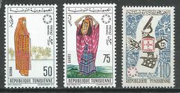 Tunisie YT N°611-612-614 Exposition Universelle Montréal 1967 Neuf ** - Tunisie (1956-...)