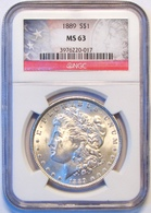 1889 Morgan Silver Dollar. NGC Certified MS63. M15. - Federal Issues
