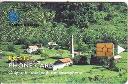 """ST. VINCENT & THE GRENADINES(chip) - Peter""""s Hope Estate, First Chip Issue EC$10, Chip GEM6, Used - St. Vincent & Die Grenadinen"""