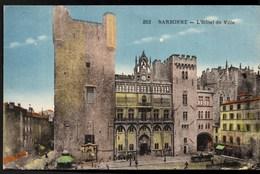 NARBONNE Hôtel De Ville Petite Animation CPA Ecrite En 1935 TBE - Narbonne