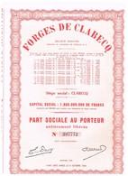 Ancienne Action - Forges De Clabecq Société Anonyme - Titre De 1963 - Industrie