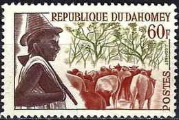Dahomey 1963 - Shepherd And Cows ( Mi 209 - YT 188 ) MNG - Bénin – Dahomey (1960-...)