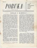 "PORUKA"" JUGOSLOVENSKI NARODNI ODBOR, LONDON FEBRUAR 1957 - Livres, BD, Revues"