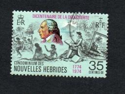 1974 DECOUVERTE  Nouvelles Hebrides 35c  Yvert Tellier No. 396 Timbre Usagee, Sans Charniere Par Monsieur HODGES - Légende Française
