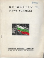 BULGARIAN NEWS SUMMARY, WASHINGTON, D.C. 1951 - Histoire